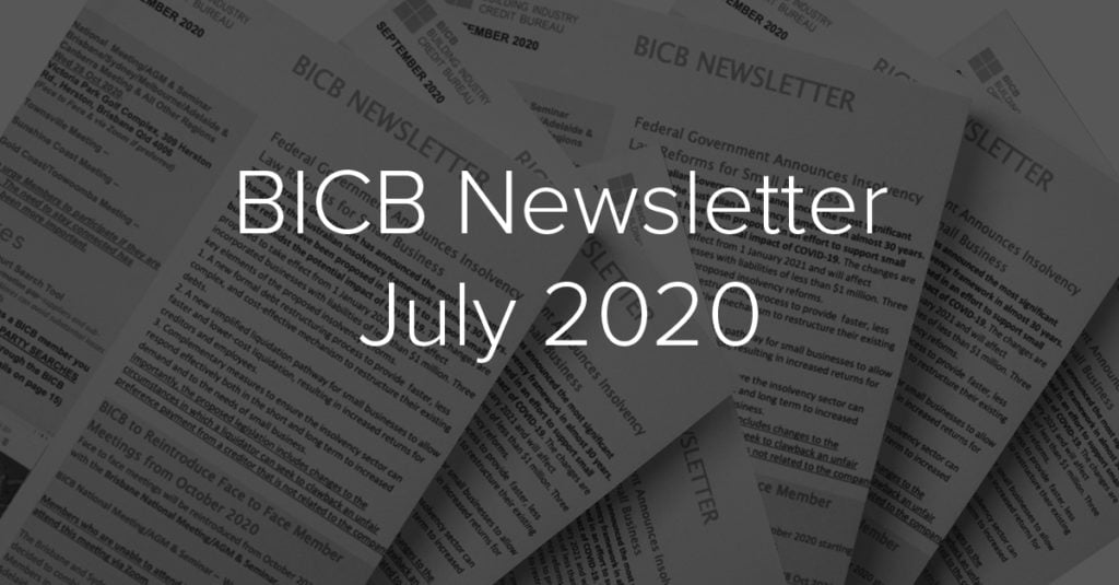 BICB Newsletter July 2020