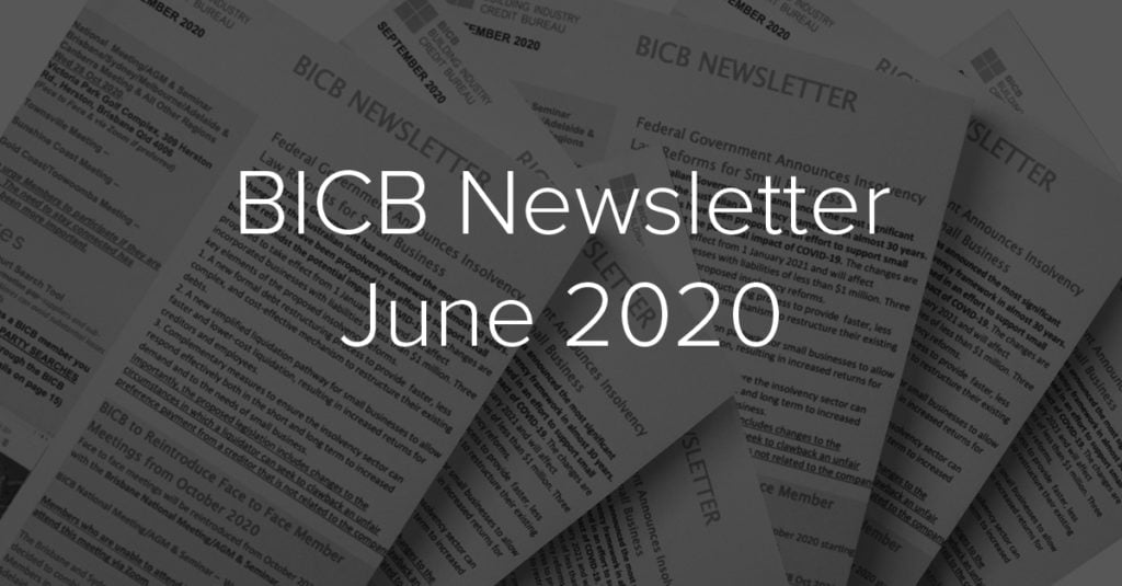 BICB Newsletter June 2020