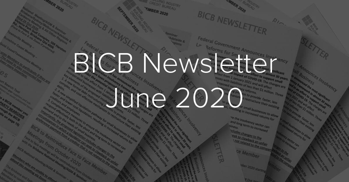 BICB Newsletter June 2020