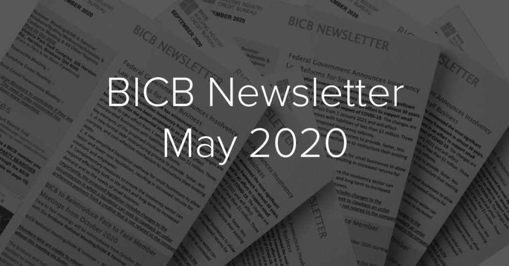 BICB Newsletter May 2020