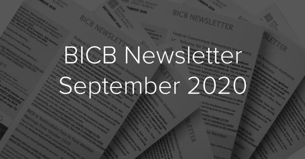 BICB Newsletter September 2020